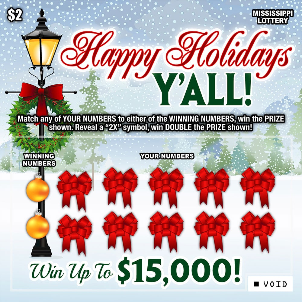 2021 Ohio Christmas Match 3 Scratch Off Happy Holidays Y All Mississippi Lottery