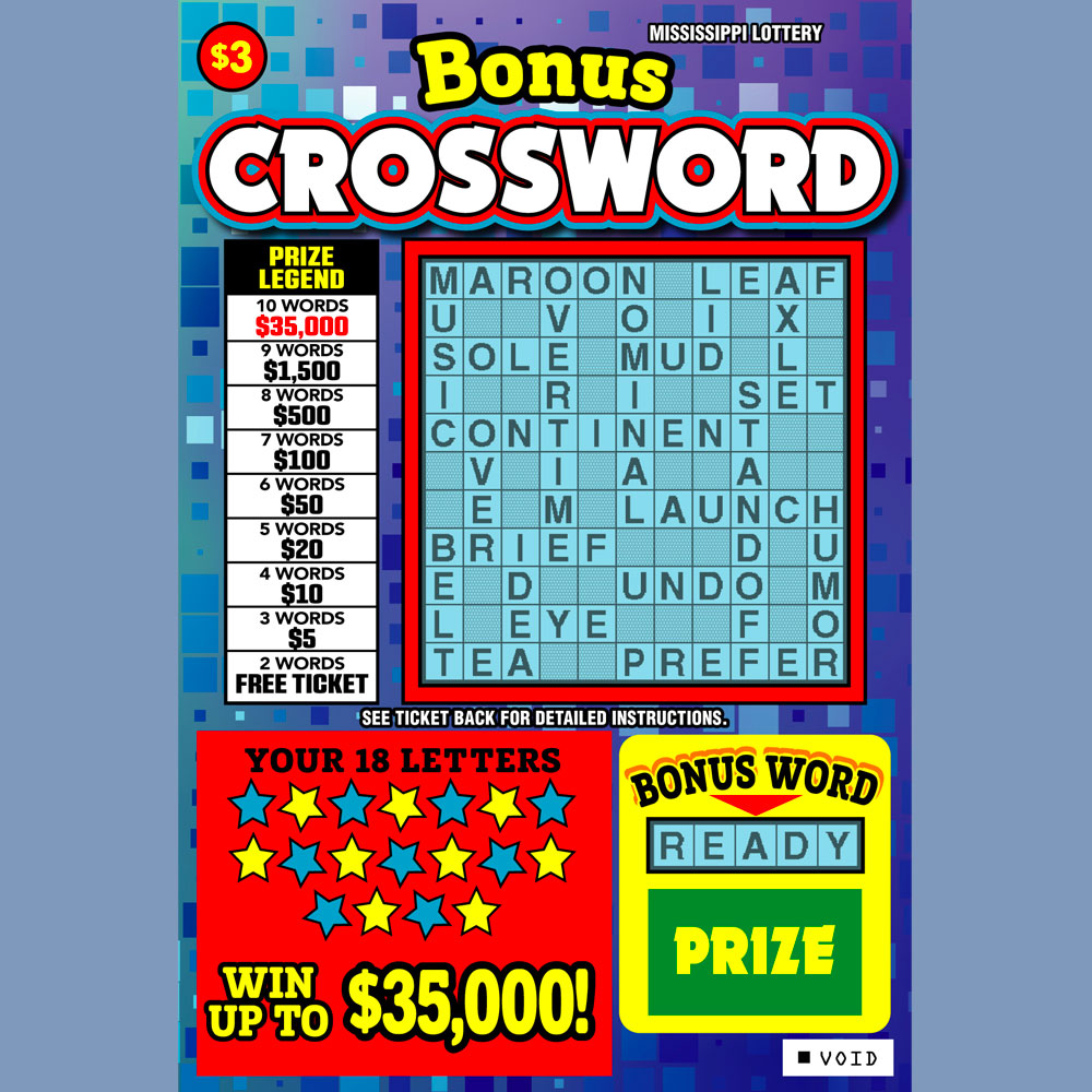 Bonus Crossword Mississippi Lottery